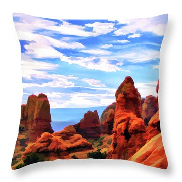 Land Of Moab - Watercolor Throw Pillow
