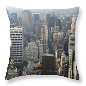 Land Of Skyscapers Throw Pillow