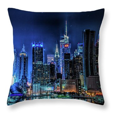 Land Of Tall Buildings Throw Pillow