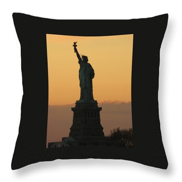 Land Of The Free And The Brave Throw Pillow
