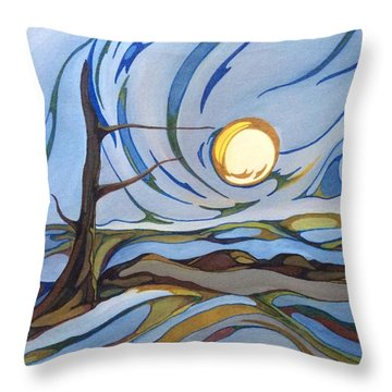 Land Of The Midnight Sun Throw Pillow
