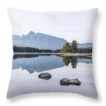 Land Of Thousand Lakes Throw Pillow
