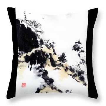 Land Of Zen Throw Pillow