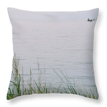 Throw Pillow featuring the photograph Land To Sea by Deborah  Crew-Johnson