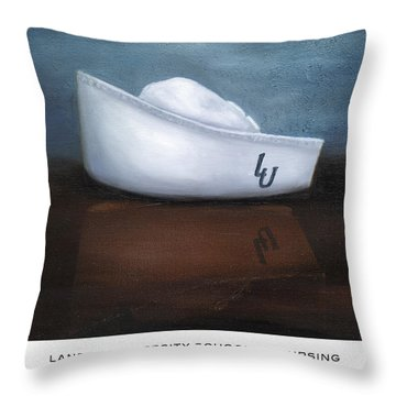 Lander University School Of Nursing Throw Pillow by Marlyn Boyd
