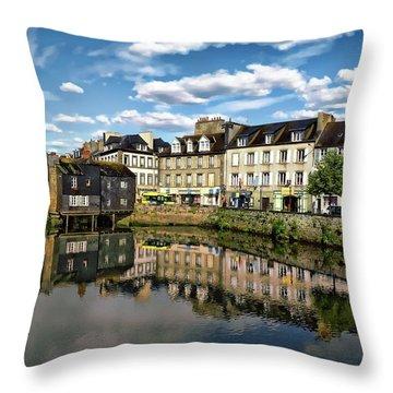 Landerneau Village View Throw Pillow