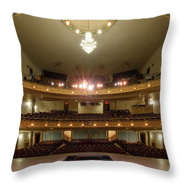 Landers Theatre Throw Pillow