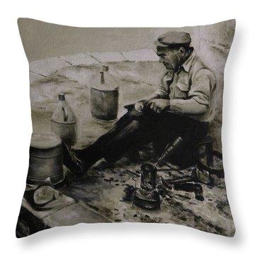 Landier.  Tinsmith. Throw Pillow