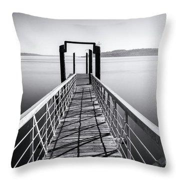 Landing Dock Throw Pillow