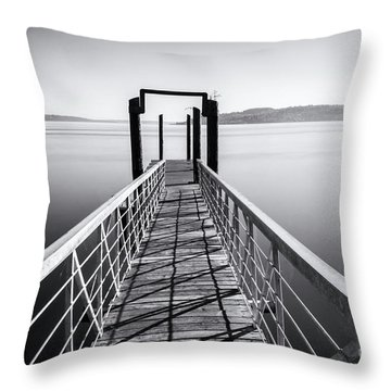 Landing Dock Throw Pillow