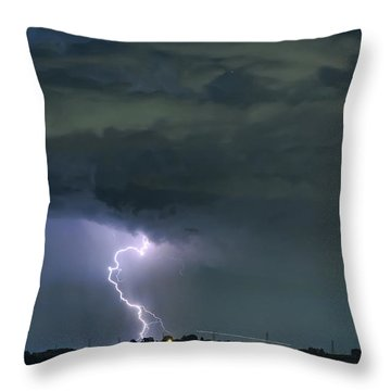 Throw Pillow featuring the photograph Landing In A Storm by James BO Insogna