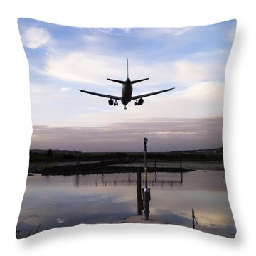 Landing In George Best Throw Pillow