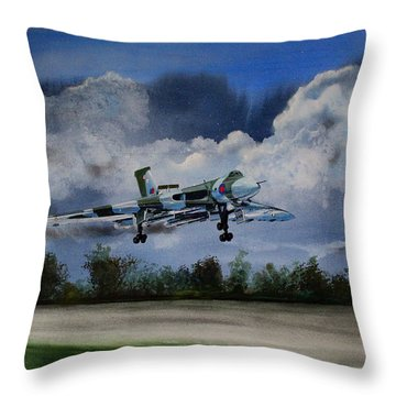 Landing In The Dusk Throw Pillow