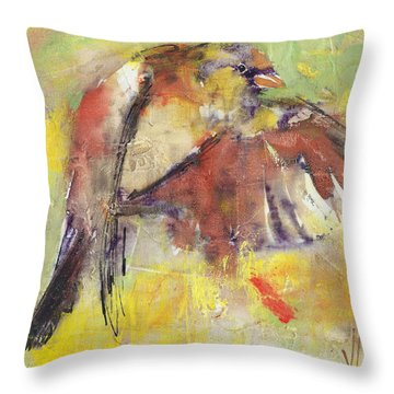 Landing On The Rainbow Throw Pillow