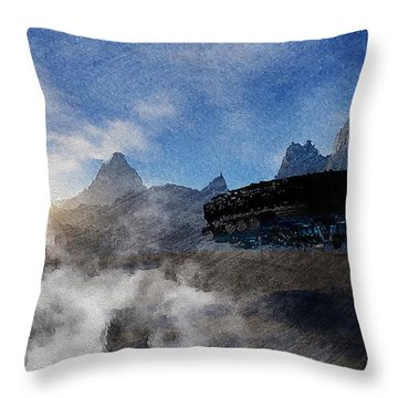 Throw Pillow featuring the painting Landing Site by Mark Taylor
