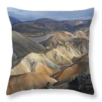Landmannalaugar Rhyolite Mountains Iceland Throw Pillow