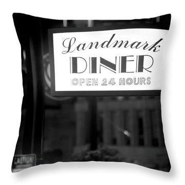 Landmark Diner Throw Pillow