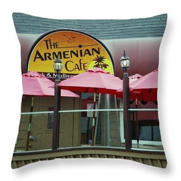 Landmark For Years Throw Pillow by Bill Dutting