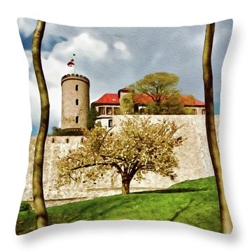 Landmark Sparrenburg Castle Throw Pillow