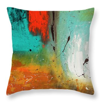 Throw Pillow featuring the painting Landmarks by Carmen Guedez