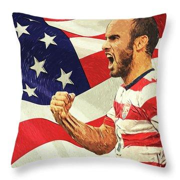 Landon Donovan Throw Pillow