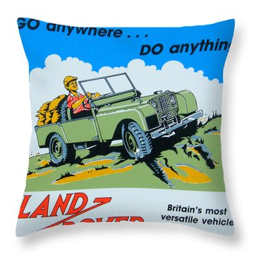 Landrover Advert - Go Anywhere.....do Anything Throw Pillow