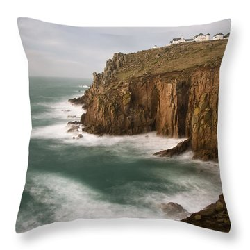 Lands End At Dusk Throw Pillow