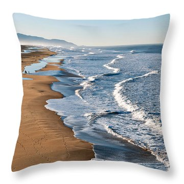 Lands End Beach Throw Pillow
