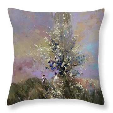 Landscape . I Was Lucky Today. Throw Pillow