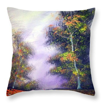 Landscape #1 Throw Pillow by Raymond Doward