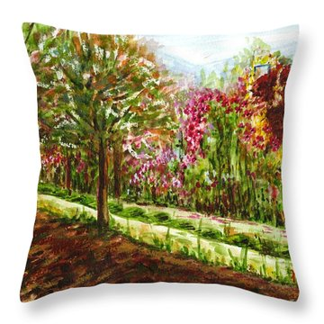 Throw Pillow featuring the painting Landscape 2 by Harsh Malik