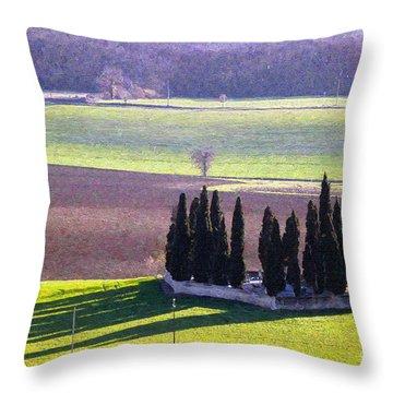 Landscape 3 Throw Pillow by Jean Bernard Roussilhe