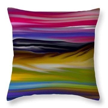 Landscape 7-11-09 Throw Pillow by David Lane