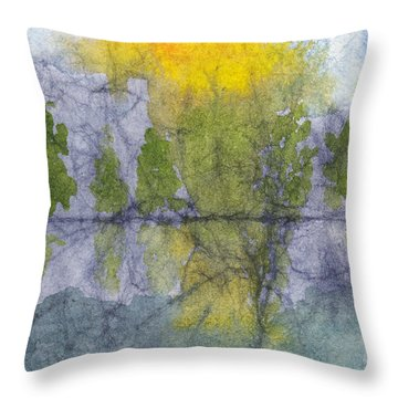 Landscape Reflection Abstraction On Masa Paper Throw Pillow