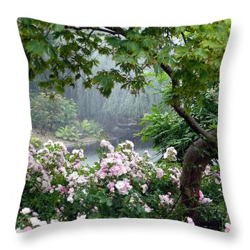 Landscape Along The Mosel Throw Pillow by John Bushnell