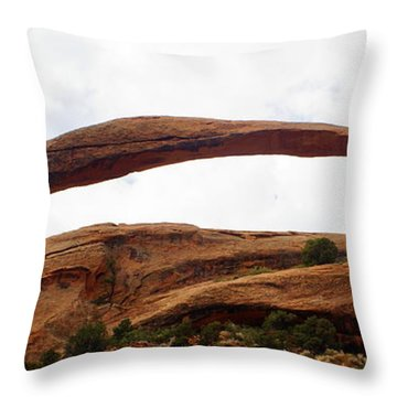 Landscape Arch 1 Throw Pillow by Marty Koch
