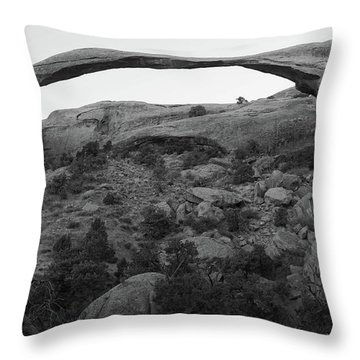 Landscape Arch Throw Pillow by Marie Leslie