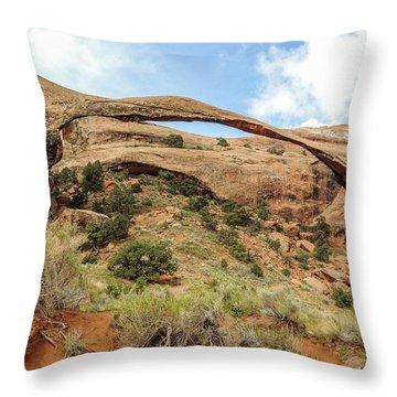 Landscape Arch Throw Pillow
