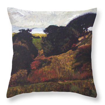 Landscape At Rhug Throw Pillow by Harry Robertson