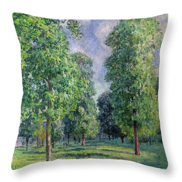 Landscape At Sevres Throw Pillow by Alfred Sisley