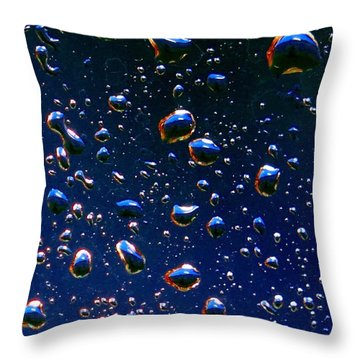 Landscape Bubbles Throw Pillow by Marianne Dow