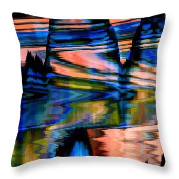 Landscape Throw Pillow by Cherie Duran