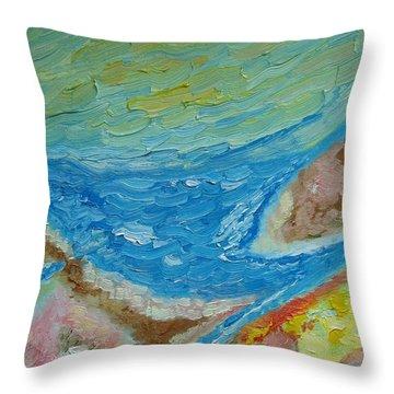 Landscape. Fantasy 12. Top View. Throw Pillow