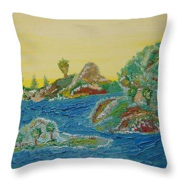 Landscape. Fantasy 28. Throw Pillow
