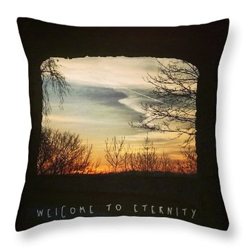 #landscape #gateway #historicalplace Throw Pillow by Mandy Tabatt