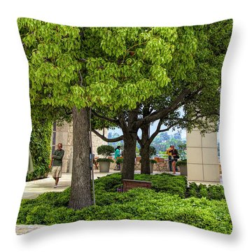Landscape Getty Museum Center Court  Throw Pillow