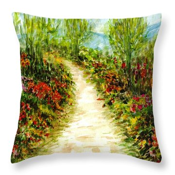 Throw Pillow featuring the painting Landscape by Harsh Malik