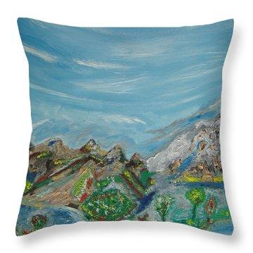 Landscape. Imagination. Throw Pillow