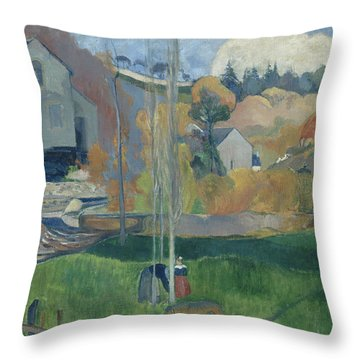 Landscape In Brittany, The David Mill Throw Pillow
