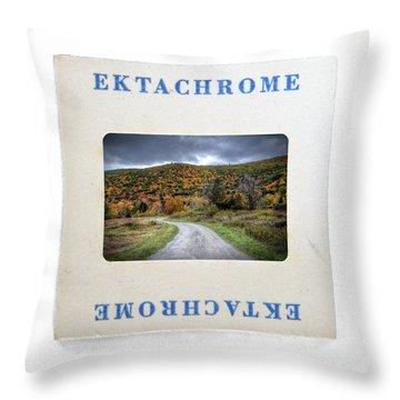 Landscape In Ektachrome Throw Pillow